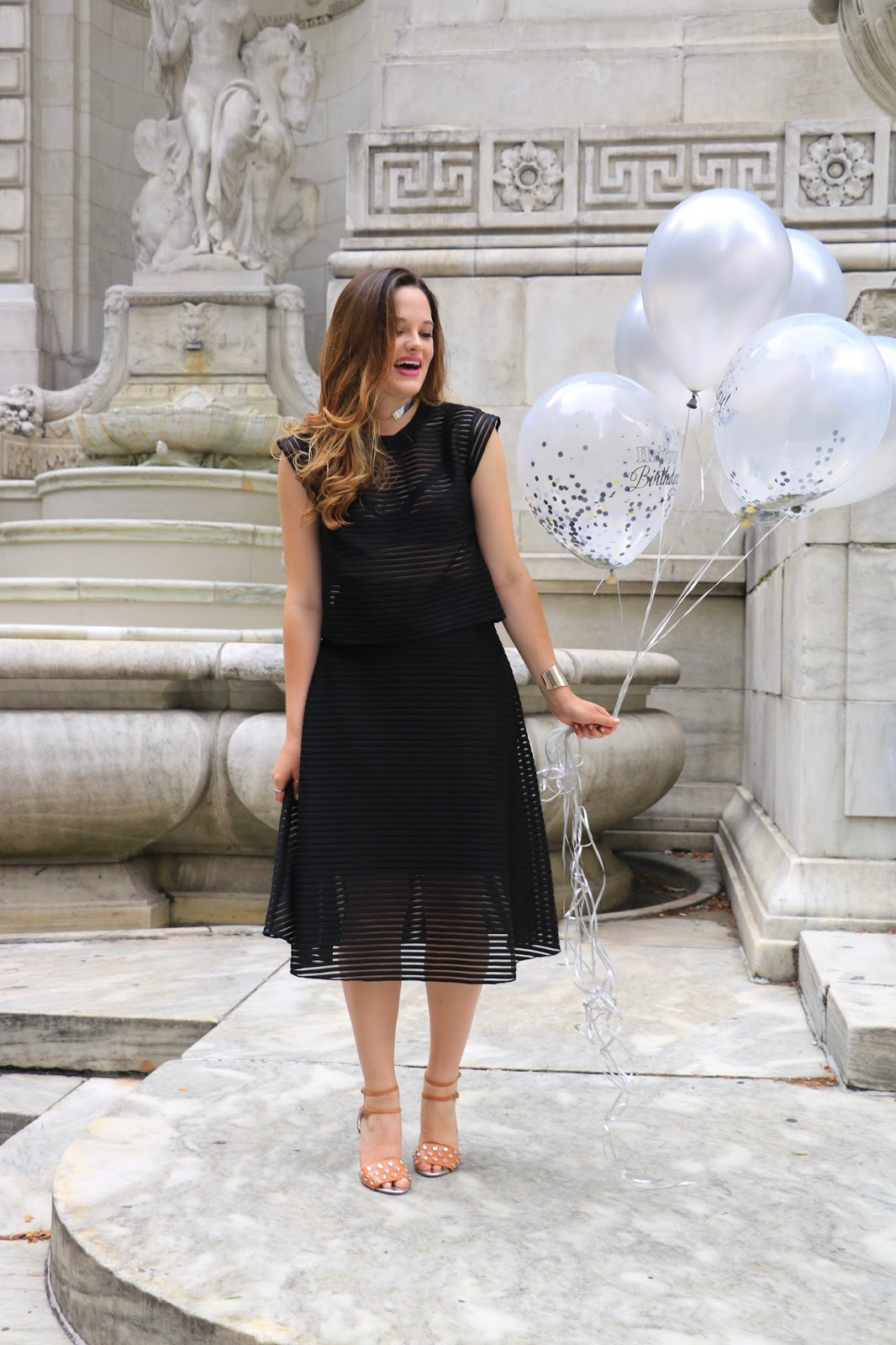 NYC fashion blogger Kathleen Harper of Kat's Fashion Fix showing party outfit ideas