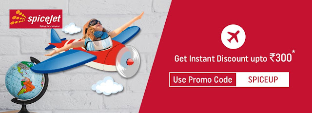 Get Upto Rs.300 Instant Discount on Spicejet Flights Booking