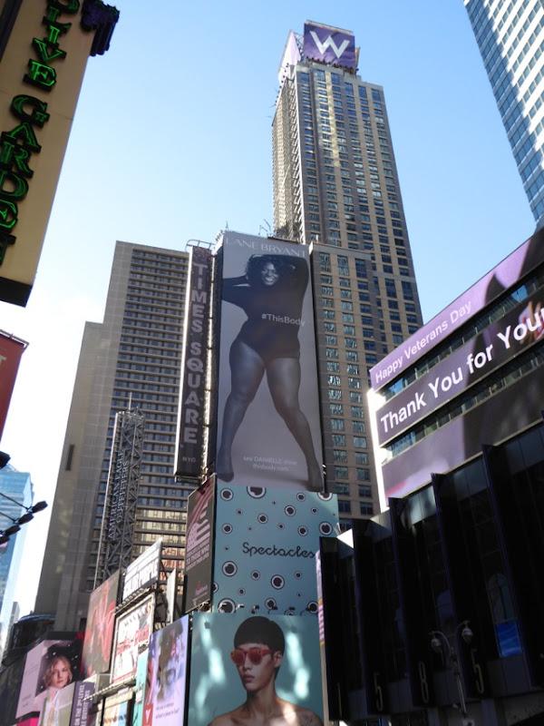 Danielle Lane Bryant This Body billboard NYC