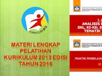 Materi Lengkap Diklat Implementasi Kurikulum 2013 Edisi Revisi 2016