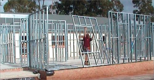 rangka besi untuk rumah teknologi australia