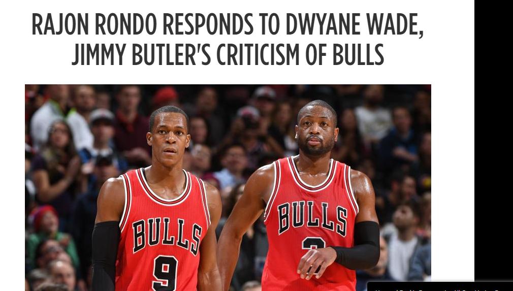 The Mindless Freaks: Rajon Rondo Responds to Wade/Butler