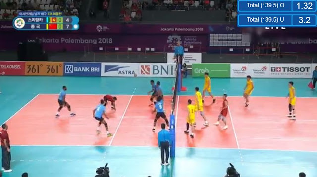 Live Streaming List: China vs Sri Lanka ASIAD 2018 Volleyball (Men) Match