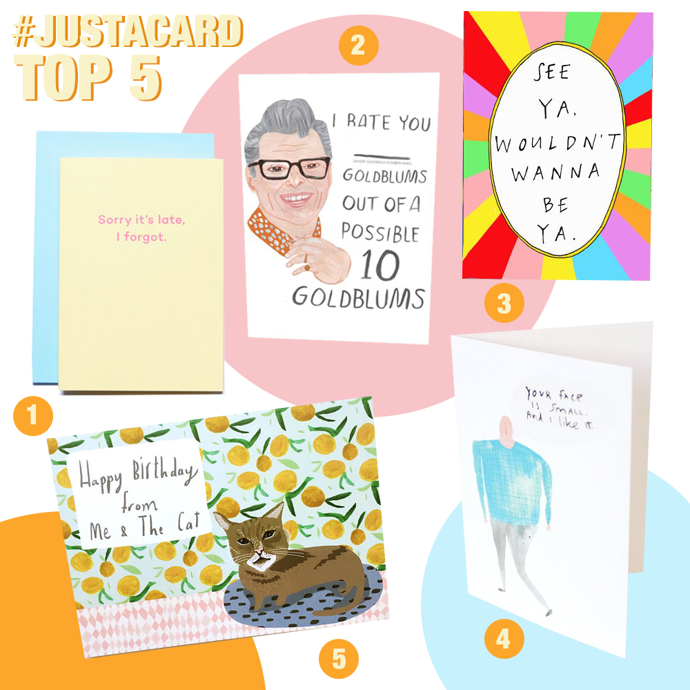 Just A Card Top 5 Greetings Card Designers