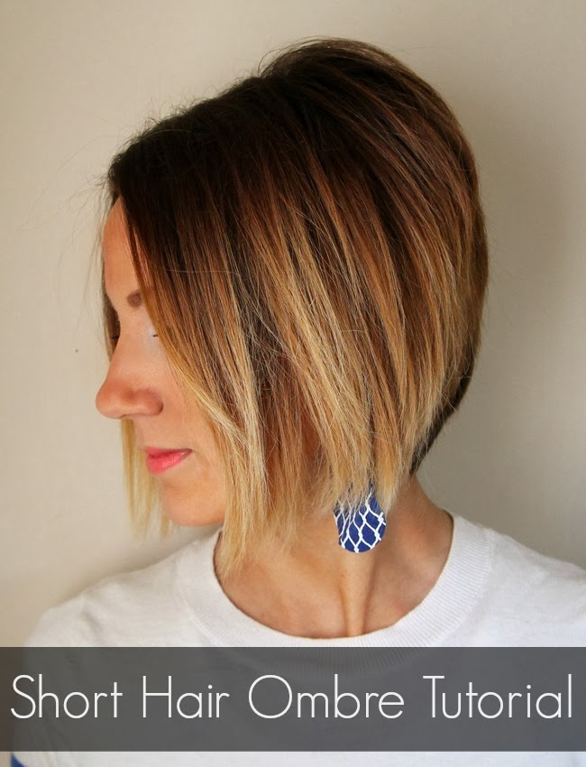 Short Hair Ombre Tutorial How To Do Ombre At Home One Little Momma