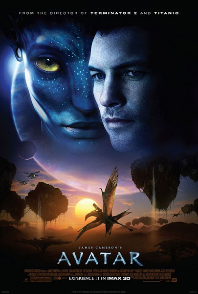 Poster Of Avatar 2009 ExTended 720p Hindi BRRip Dual Audio Full Movie Download
