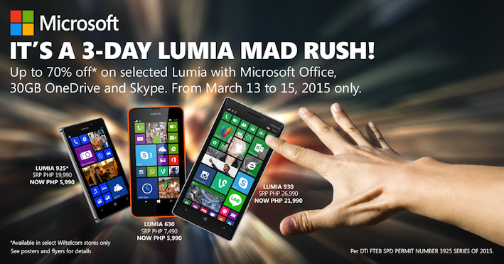 3-Day Lumia Mad Rush Promo