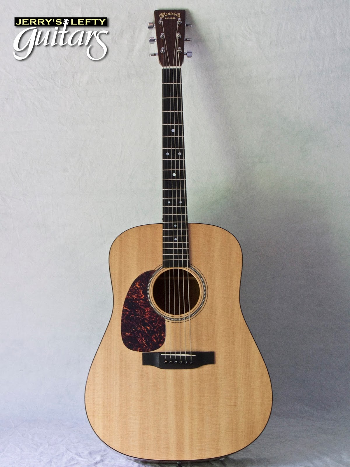 jerry 39 s lefty guitars newest guitar arrivals updated weekly martin d16gt used left handed. Black Bedroom Furniture Sets. Home Design Ideas