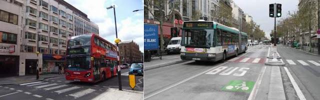 Наземный общественный транспорт Лондон и Париж