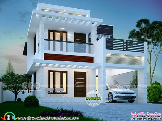 3 bedroom 1755 sq.ft  modern home design
