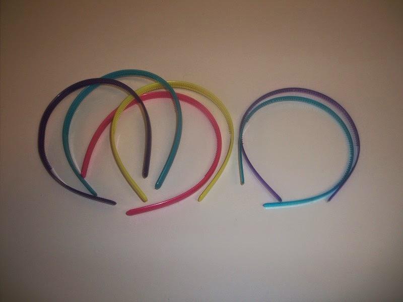 Plastic headbands pre-decorating