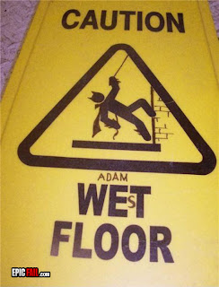 janitors' amended warning sign - Batman