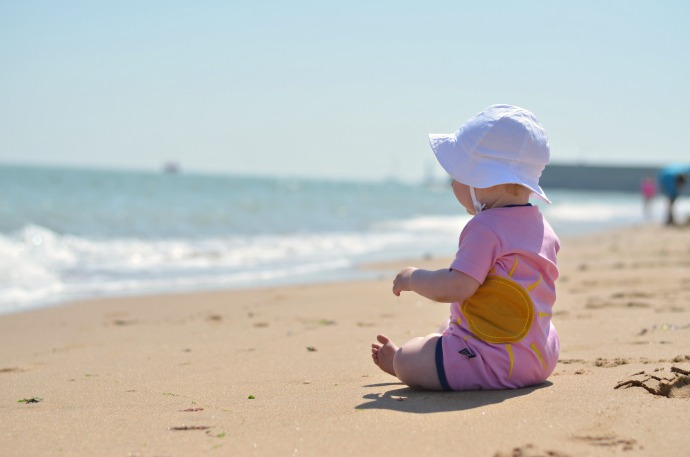baby at the beach, ubang babblechat