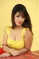 Cute Telugu Actress Shunaya Solanki High Definition Spicy Pos in Yellow Top and Skirt  0621.JPG