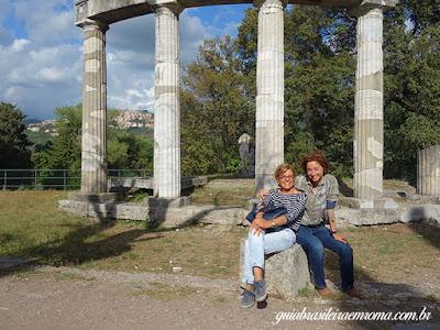 Villa Adriana, estudando, guia brasileira em Roma - Templo Diana