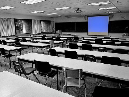 Aprendiendo a hablar en público. Aula universitaria de la URJC. Fuente: GlocalPressURJC