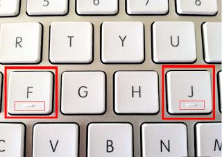 توضيح فكرة العلامة الموجوده تحت أحرف الـ J و F و 5 في لوحة المفاتيح