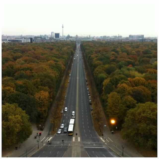 vista da Coluna da Vitoria (Siegssäule), Tiergarten, Berlim