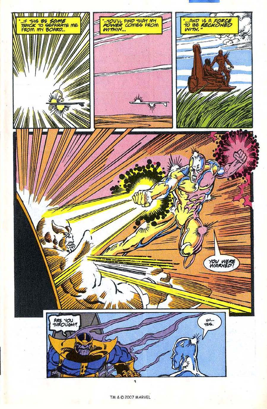 Read online Silver Surfer (1987) comic -  Issue #35 - 5