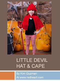 http://www.redheart.com/free-patterns/little-devil-hat-cape