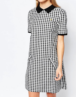 Gingham polo dress with zip back, $161.75 from Fred Perry