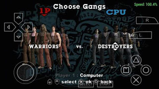 Game The Warriors ISO PSP