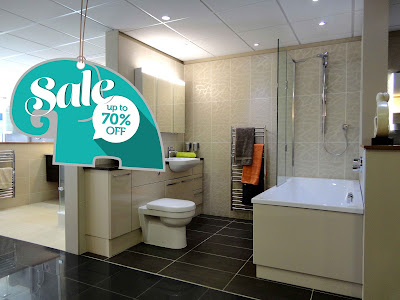 70% OFF ex display sale - bathroom products