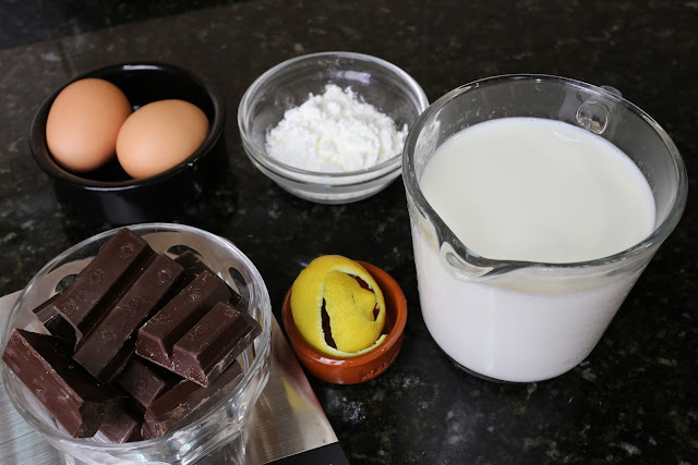 Ingredientes para crema de chocolate