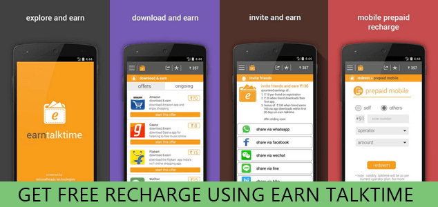 Free Earn Talktime App