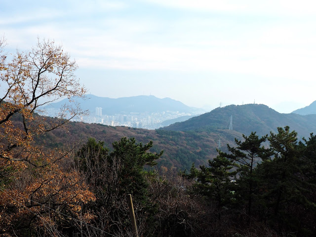 View from Seokbulsa Temple looking over Geumjeongsan Mountain, Busan, South Korea