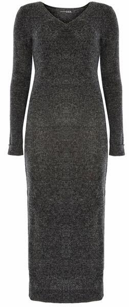 Vestido largo en color gris para mujer de la colección de Primark