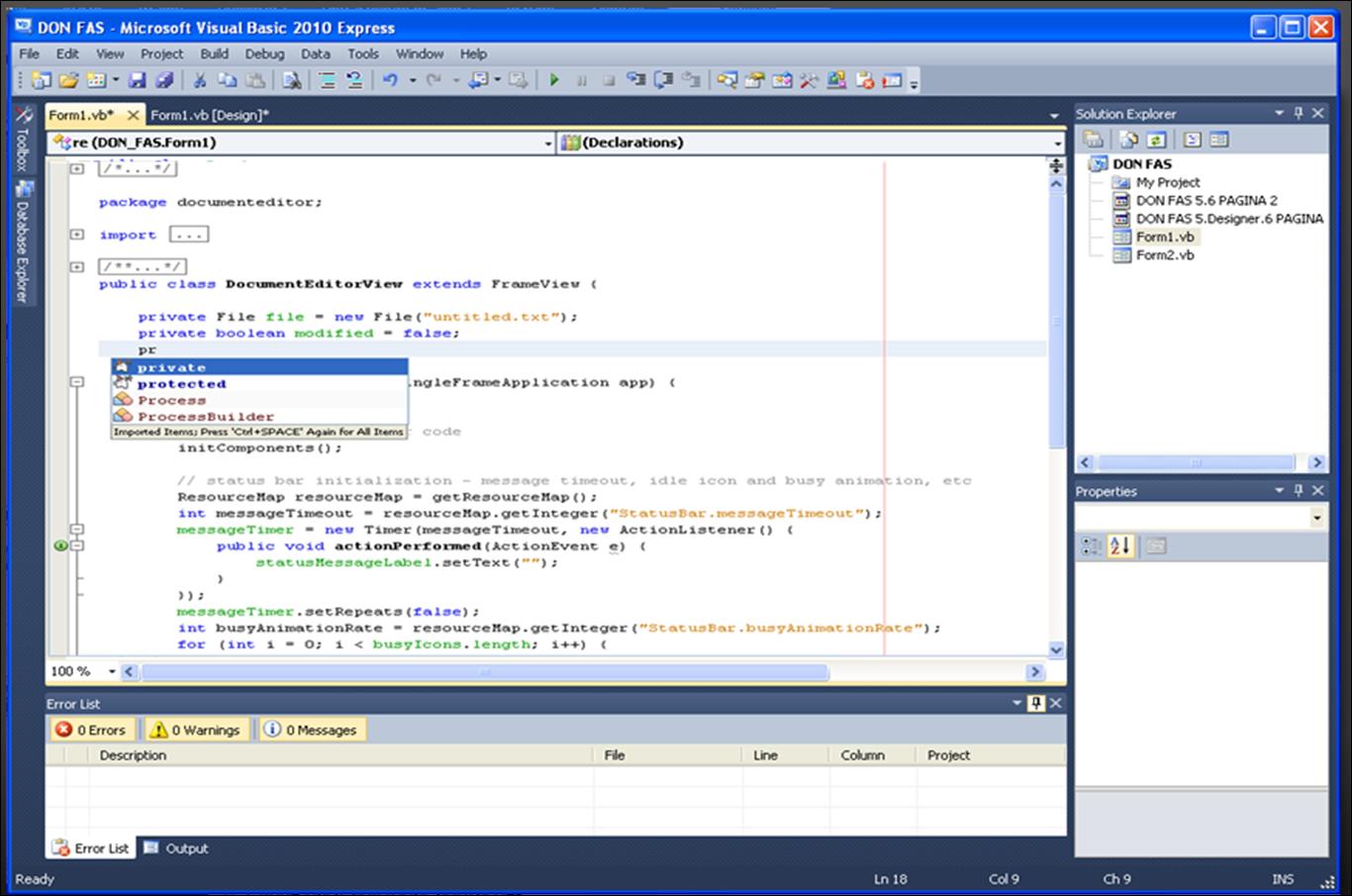 Programação em VBA