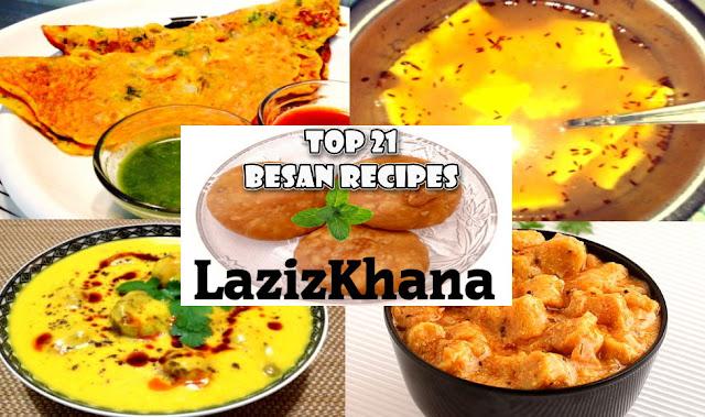 21 Besan Recipes in Hindi - 21 बेसन रेसिपीज इन हिंदी