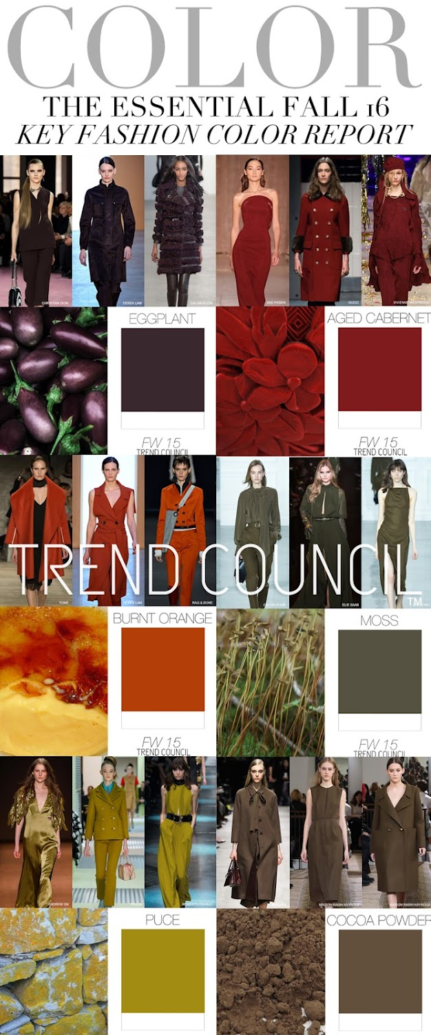 TRENDS // TREND COUNCIL - WOMENS FALL 16 KEY FASHION COLOR REPORT