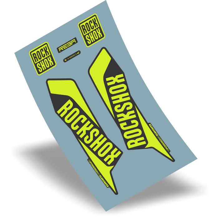 stickers design adesivo suspensão rock shox reba rlt vinil verde