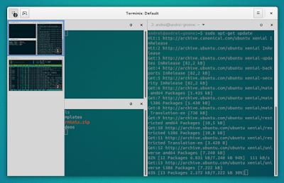 Terminix GTK3 tiling terminal emulator