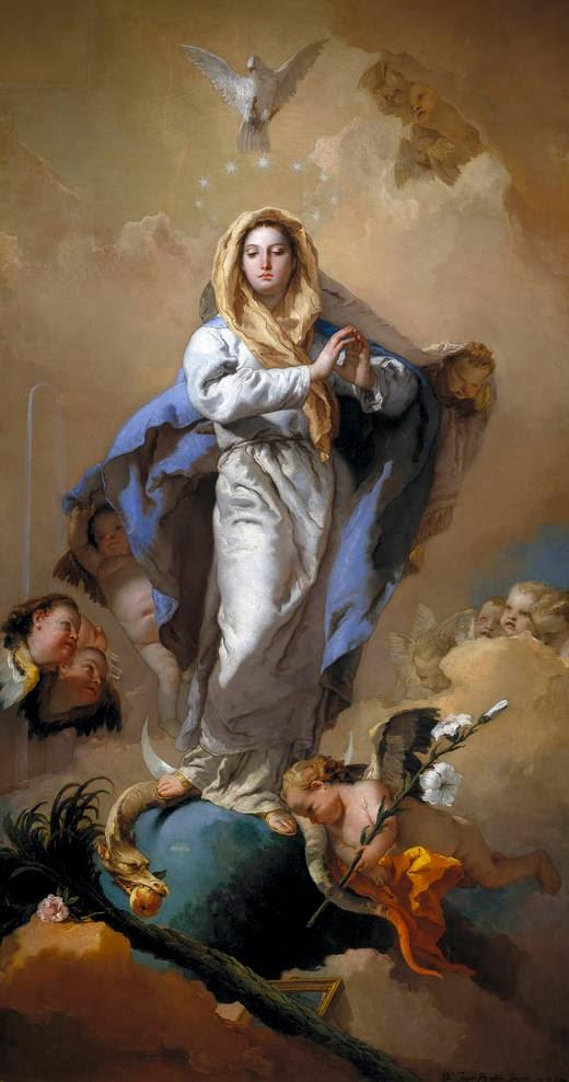 Đức Maria Vô Nhiễm và tranh của G. TIEPOLO