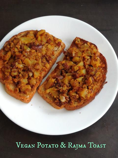 Vegan Potato & Rajma Toast