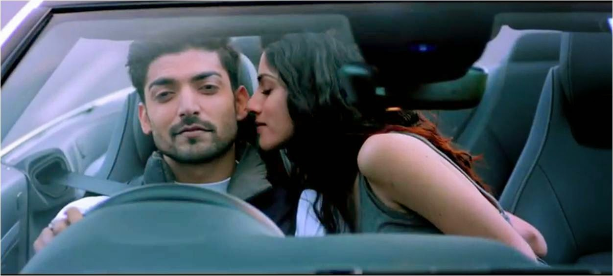 Sapna Pabbi romancing with Gurmeet Choudhary in car in Khamoshiyan movie still