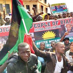 biafra people with flag colour