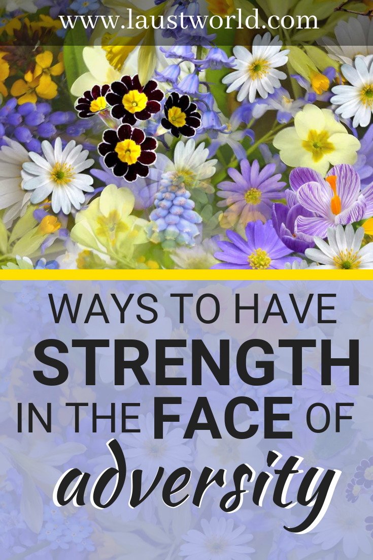 Pinterest graphic - ways to have strength in the face of adversity
