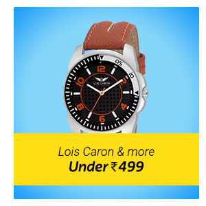 Lois Caron watches under Rs. 499. Select designer watches at most affordable price.