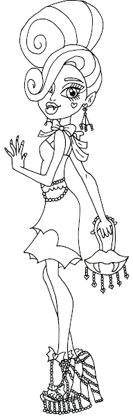 baby draculaura coloring pages - photo#10