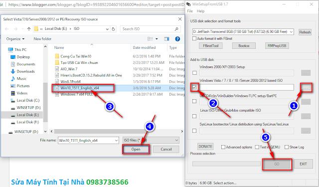 Hướng dẫn tạo USB boot tích hợp bộ cài Windows