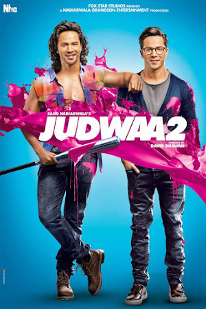 Poster Of Bollywood Movie Judwaa 2 2017 300MB DVDScr Full Hindi Movie