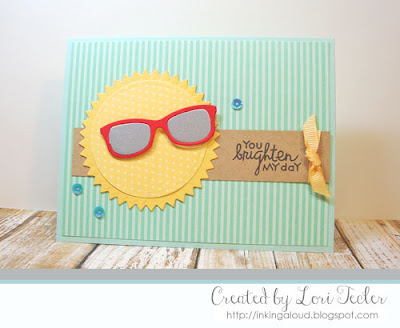 You Brighten My Day card-designed by Lori Tecler/Inking Aloud-stamps from Paper Smooches