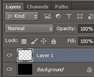 tạo vệt sáng layer mới photoshop
