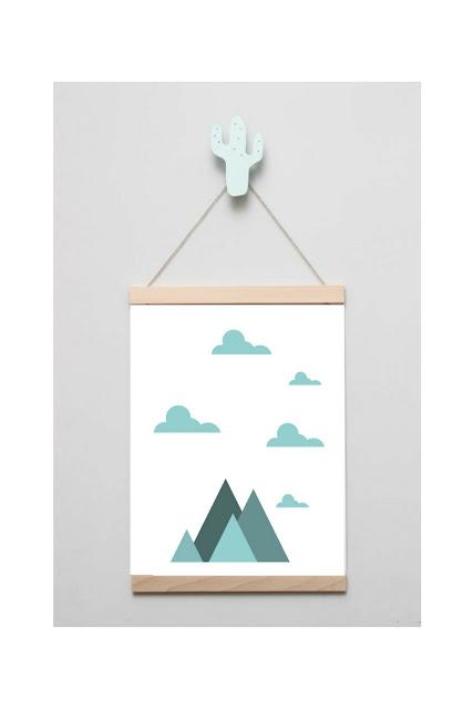 plakaty z motywem chmur i gór