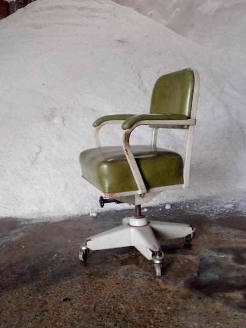 cadeira, escritório, vintage, rotativa, anos 50, anos 60