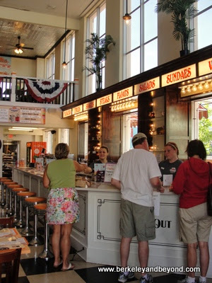 interior of Stewart's Restaurant in Cape May, New Jersey